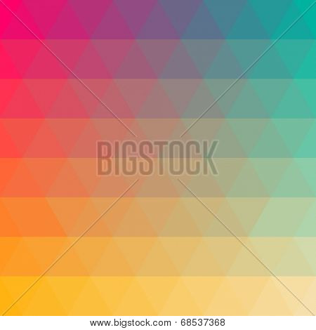Triangular color blend background