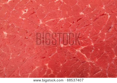 macro shot of raw beef