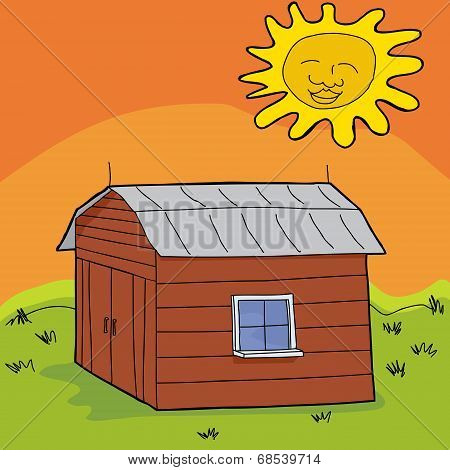 Hot Sun Over Shed