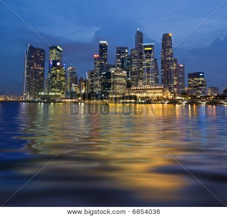 Wavy Reflection Of Singapore