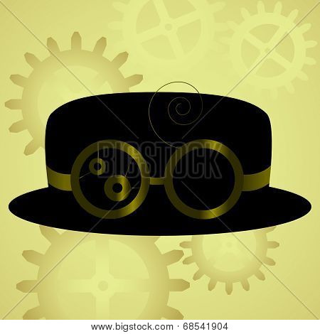 Steam Punk Hat and Goggles