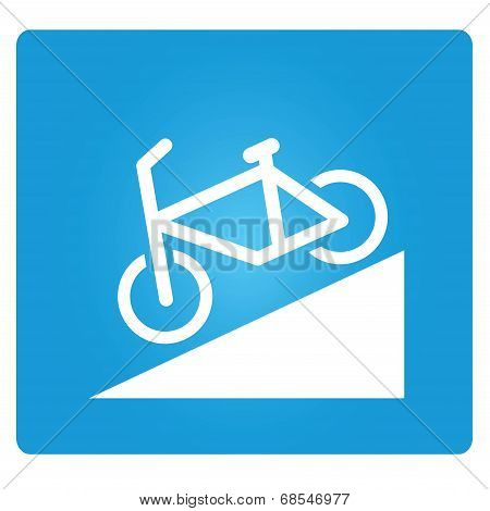 bicycle down way symbol