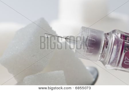 Insulin Drop On Sugar