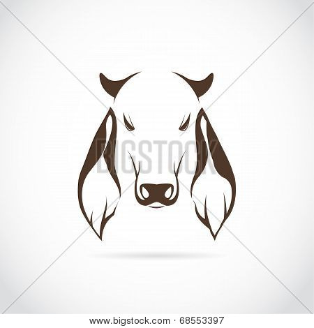 Vector Image Of Cow Head
