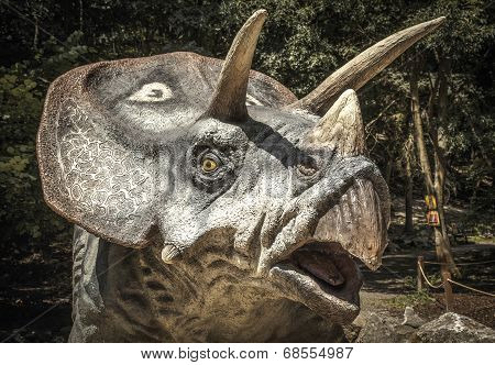 Realistic Model Of Dinosaur Triceratops