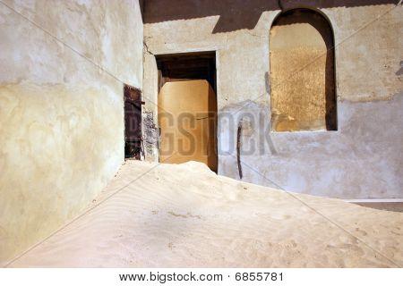 Desert Swamping Kolmanskop Town Namibia