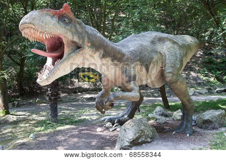 Realistic Model Of Dinosaur Allosaurus