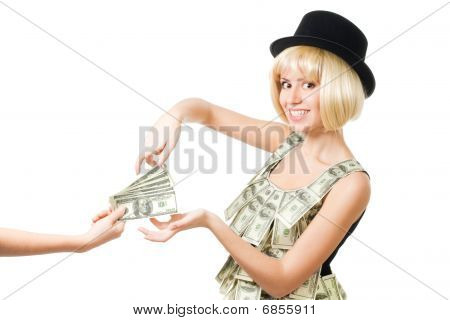 Woman Take Money