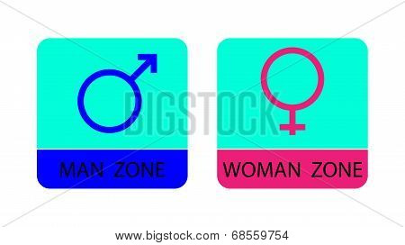 Men and women sign icons - vector illustration