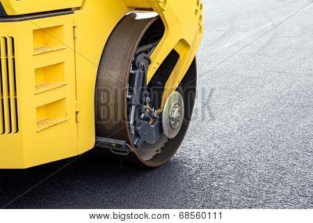 Asphalt Roller Closeup