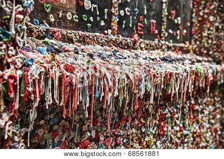 Dirty Gum Wall