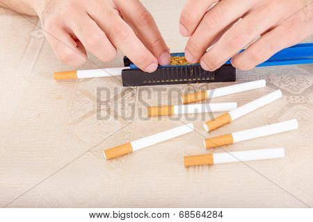 Handmade Cigar Live Preparation