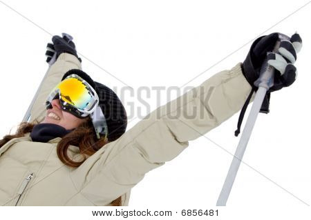 Woman With Ski Googles