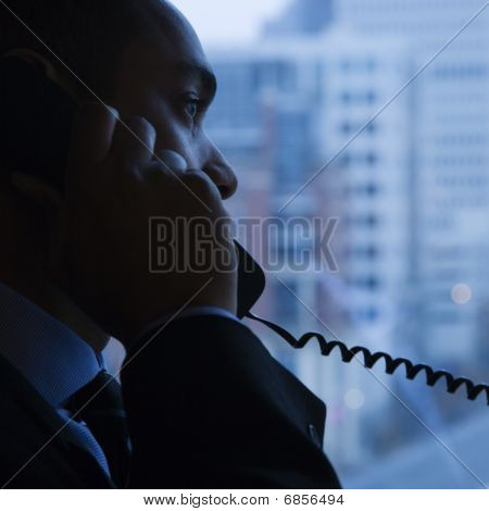Businessman On Telephone