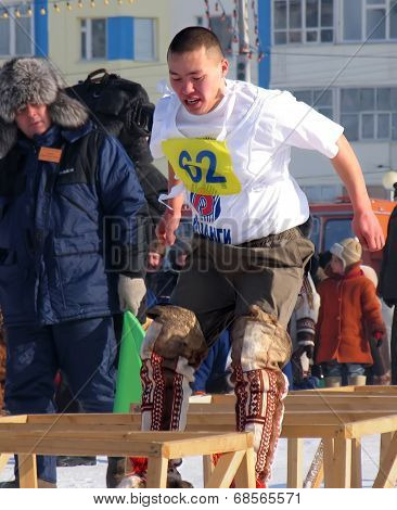 Nadym, Russia - On March 17, 2006: The National Holiday - The Day Of The Reindeer Herder.