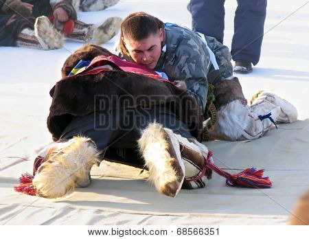 Nadym, Russia - March 11, 2005: National Holiday - Day Of The Reindeer Herders.