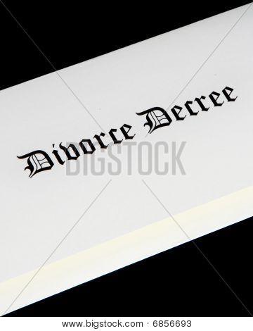 Divorce Decree Document Cover