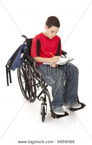 Disabled School Boy