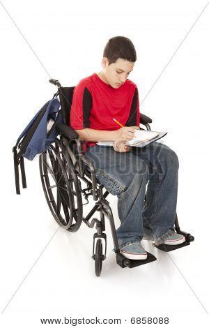 Disabled School Boy