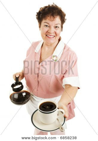 Waitress Serves Your Coffee