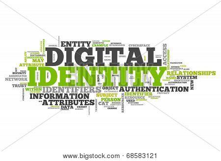 Word Cloud Digital Identity