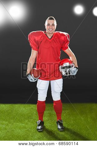Portrait Of Smiling American Football Player