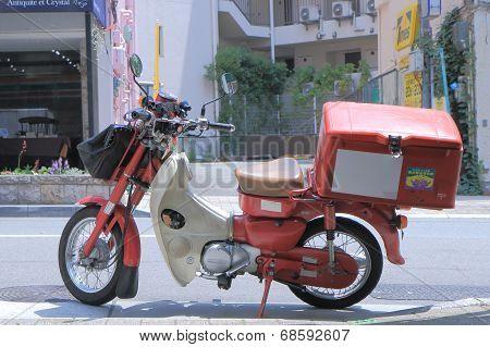 Japan Post's motorbike Japan