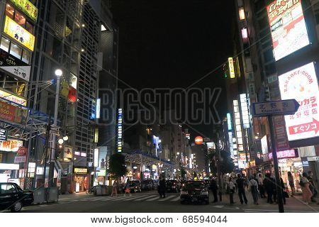 Kobe Sannomiya cityscape night Japan