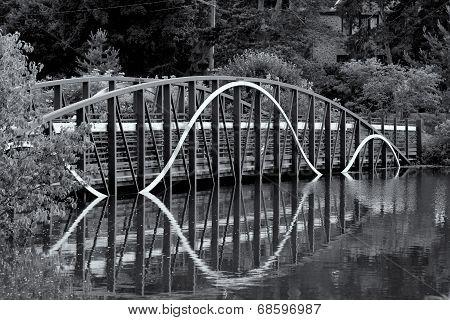Curved Bridge Over Lake