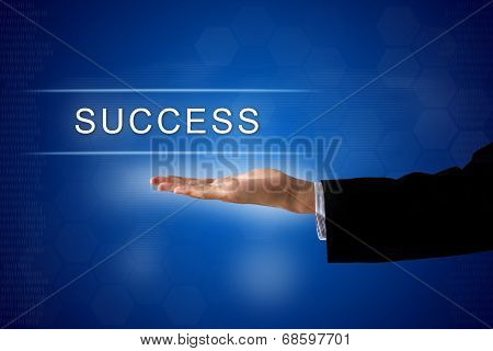 Success Button On Virtual Screen