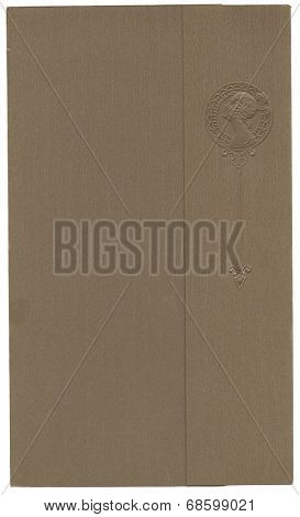 Antique paper photograph cover background with embossed woman