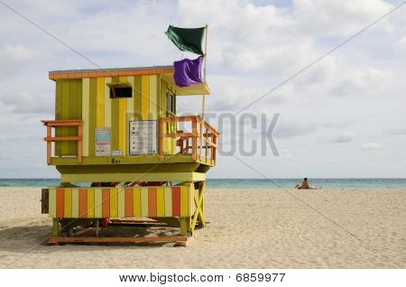 Colorful Lifeguard Tower