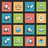 picture of substitutes  - Interaction icons set flat design vector graphic illustration - JPG