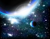 image of outer  - An outer space background with planets - JPG