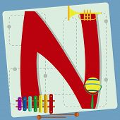 stock photo of letter n  - Letter  - JPG
