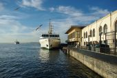 foto of hydrofoil  - Ship for people transferring from Asyan to European part of Istanbul - JPG