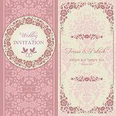 picture of ring-dove  - Antique baroque wedding invitation - JPG