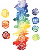 stock photo of reflexology  - Seven chakras - JPG