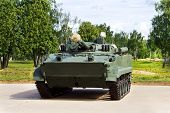foto of amphibious  - Infantry combat vehicles on the parking place - JPG