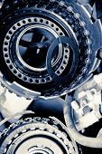 stock photo of pimp  - Close up image of automobile gear assembly ** Note: Shallow depth of field ** Note: Visible grain at 100%, best at smaller sizes - JPG