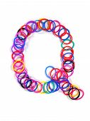stock photo of rubber band  - Colorful rubber band character  - JPG