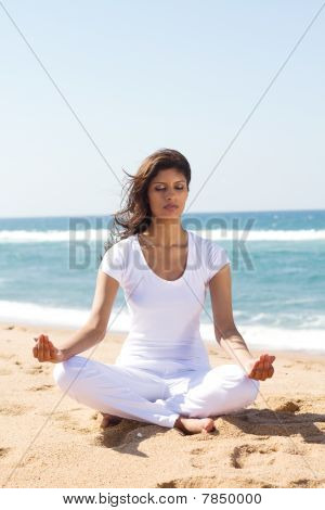 young woman meditation
