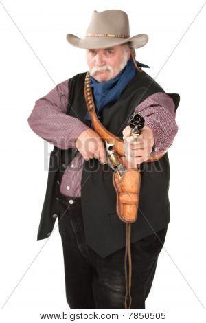 Cowboy Pointing Pistol