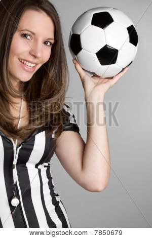 Soccer Referee Woman
