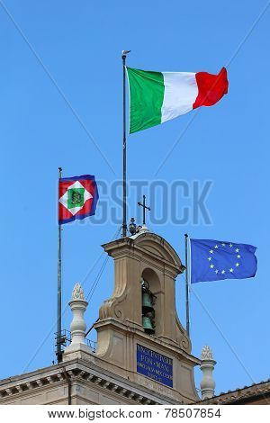 Italy Eu Flags