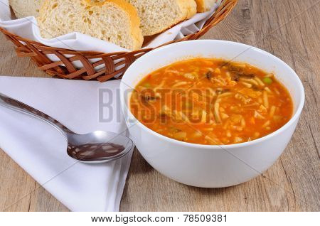 Vegetarian Minestrone Soup.