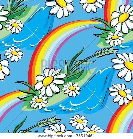 spring rainbow seamless