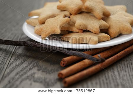 Homemade Cookies With Vanilla And Cinnamon