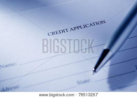 Conceptual Credit Application Form And Pen