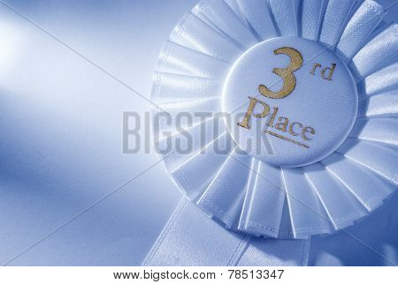 3Rd Place White Winners Rosette Or Badge